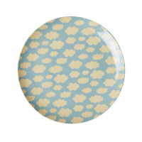 Blue Cloud Print Melamine Kids or Side Plate Rice DK